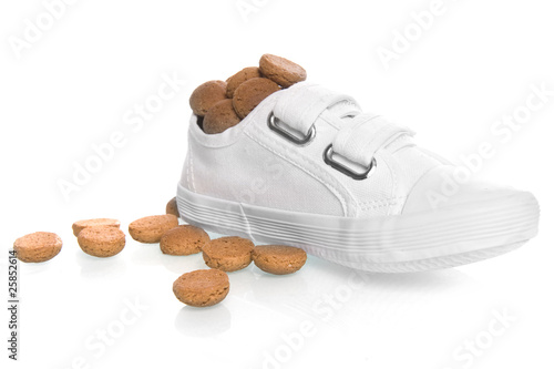 shoe with candy for Sinterklaas, a dutch tradition