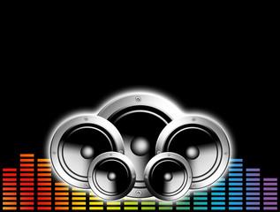 Techno music background