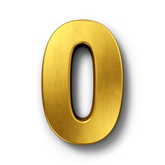 The number 0 in gold