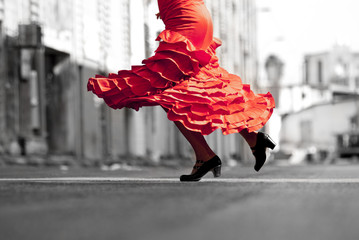 Flamenco Dancer red dress move
