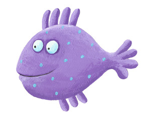 Funny purple fish