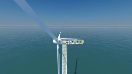 Offshore WKA01 mit Hintergrund