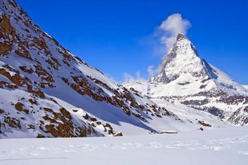 Landscape of  Matterhorn Peak region at Switzerland