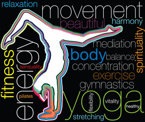 Yoga. Editable vector illustration