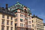 Stockholm - old tenements at Gamla Stan poster