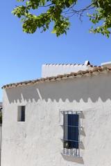 white mediterranean house detail Formentera