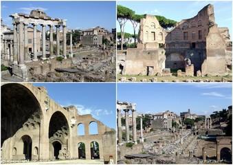 Cartolina del foro romano