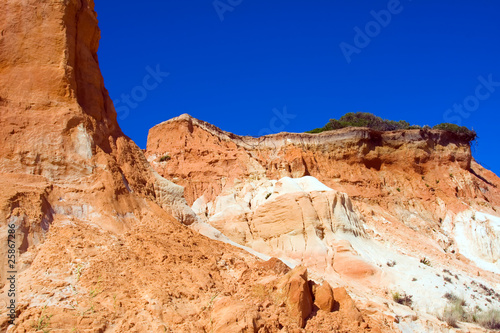 Red montains in Algarve, south of Portugal