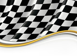 Fototapety Checkered Flag, vector background