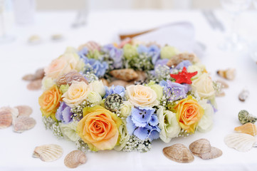 Flower decoration for a wedding