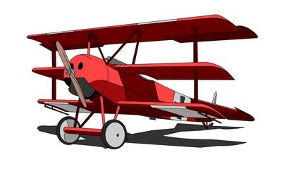 "Fokker Dr.I triplane (aka Dr.1 Dreidecker) in ""Red Baron"" colors"