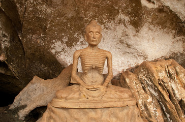 Buddha statue (mortify by starvation) at Phangnga, Thailand.