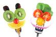 Leinwanddruck Bild - Faites manger des fruits et des légumes à vos enfants !