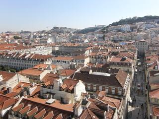 Blick über die Altstadt von Lissabon, Portugal, Europa
