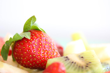 Strawberry on Fruits Platter