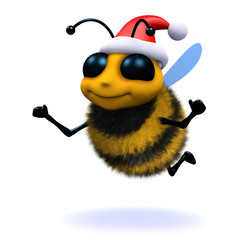 3d Bee wears goes to a Christmas party