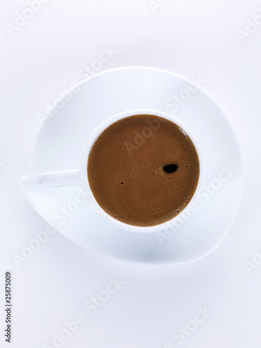 greek coffee in white cup