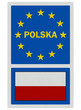 EU signs series - Poland (in Polish language), photo realistic,