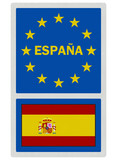 EU signs series - Spain (in Spanish language), photo realistic,