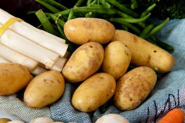 Fresh vegetables, bunch of potatoes