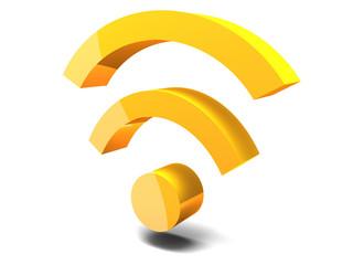 Icona Wi-fi - 3d