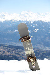 snowboard on mountains