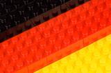 Noppen-Bauklötze in Deutschlandfarben