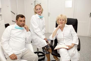 Doctors team in uniform