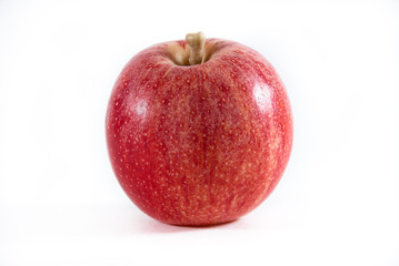 A fresh red gala apple on a isolated background