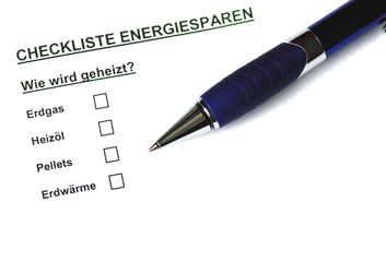Checkliste Energiesparen I