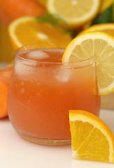 Orange lemon carrot juice