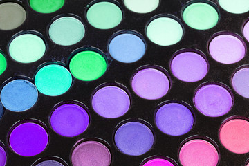 Professional multicolor eyeshadows palette,