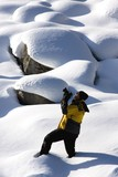 Photographer In The Snow,Jasper National Park,Alberta,Canada