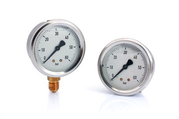 Two different type manometer isolated