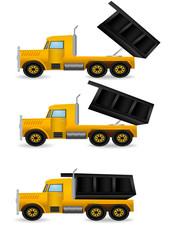 Vector illustration the yellow truck