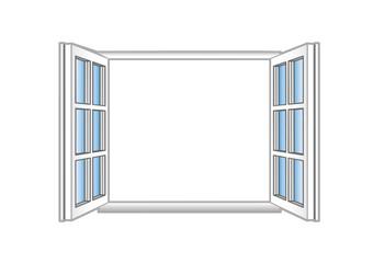 Vector illustration a plastic open window