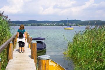 Bootssteg am Bodensee