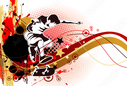 skater grunge vector