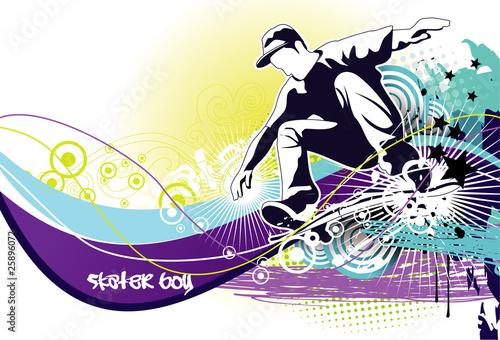 skater jumping vector