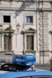 Lampeggiante auto della Polizia