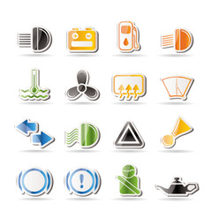 Car Dashboard - simple vector icons set