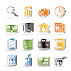 Business and Office Internet Icons - Vector Icon Set 3