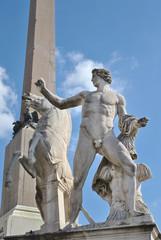 Statue Fontana dei Dioscuri-Piazza Quirinale-Roma- Italia