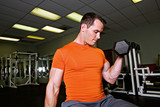 Weightlifter in gym poster