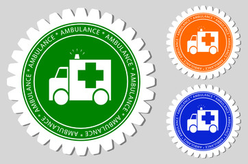 Ambulance Sign Labels