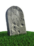 gravestone on the grass poster