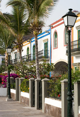 Peurto de Mogan Colourful Houses in Gran Canaria