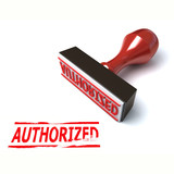 3d stamp authorized poster