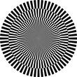 optische Illusion, rund