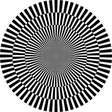 """Постер, картина, фотообои """"optische Illusion, rund"""""""